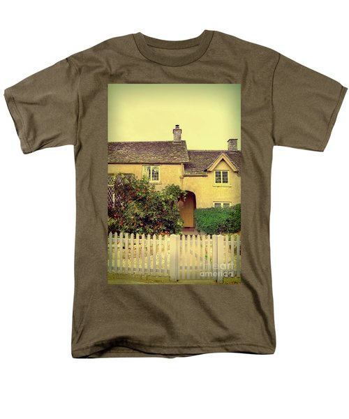 Cottage With A Picket Fence Men's T-Shirt  (Regular Fit) by Jill Battaglia