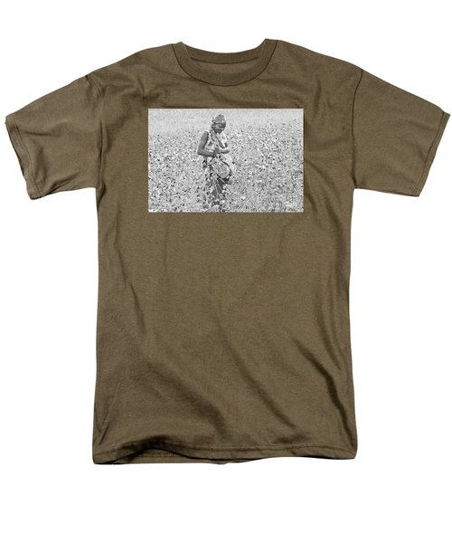 Men's T-Shirt  (Regular Fit) featuring the photograph Cotton Picker by Pravine Chester