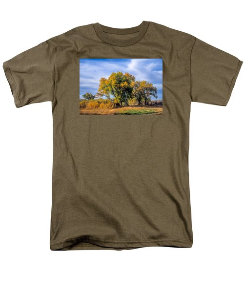 Cottonwood #1 Tree On Ranch Land In Colorado Fall Colors Men's T-Shirt  (Regular Fit) by John Brink