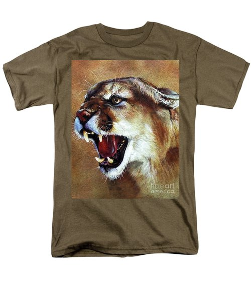Cougar Men's T-Shirt  (Regular Fit) by J W Baker