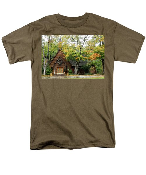 Country Chapel Men's T-Shirt  (Regular Fit) by Jerry Battle