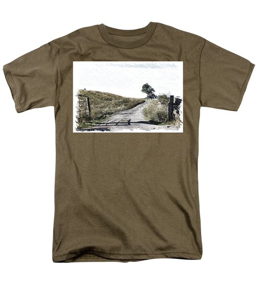 Men's T-Shirt  (Regular Fit) featuring the photograph Country Lane by RKAB Works
