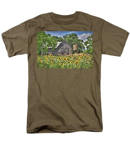 Country Sunflowers Men's T-Shirt  (Regular Fit) by Lori Deiter