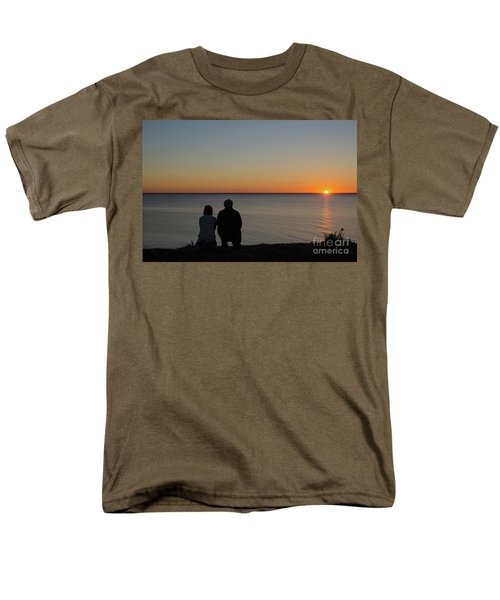 Men's T-Shirt  (Regular Fit) featuring the photograph Couple Silhouettes By Sunset by Kennerth and Birgitta Kullman