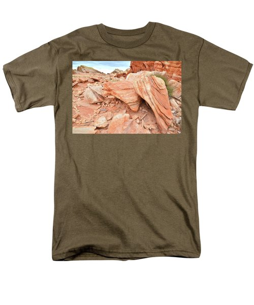 Men's T-Shirt  (Regular Fit) featuring the photograph Cove Of Sandstone Shapes In Valley Of Fire by Ray Mathis