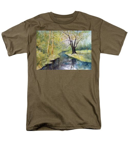 Covered Bridge Park Men's T-Shirt  (Regular Fit) by Ryan Radke