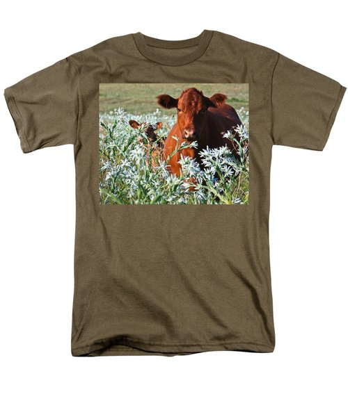 Cow Hide Men's T-Shirt  (Regular Fit) by Mark Alder