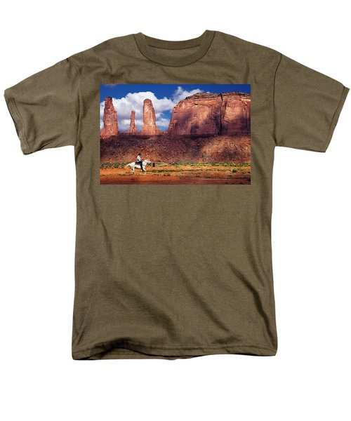 Cowboy And Three Sisters Men's T-Shirt  (Regular Fit) by William Lee
