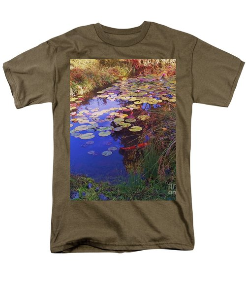 Men's T-Shirt  (Regular Fit) featuring the photograph Coy Koi by Suzanne McKay