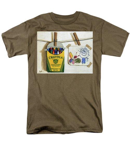 Crayola Crayons And Drawing Realistic Still Life Painting Men's T-Shirt  (Regular Fit)