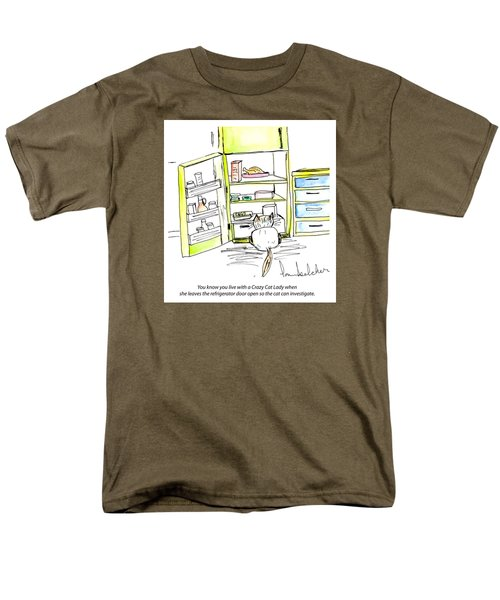 Crazy Cat Lady 0003 Men's T-Shirt  (Regular Fit) by Lou Belcher
