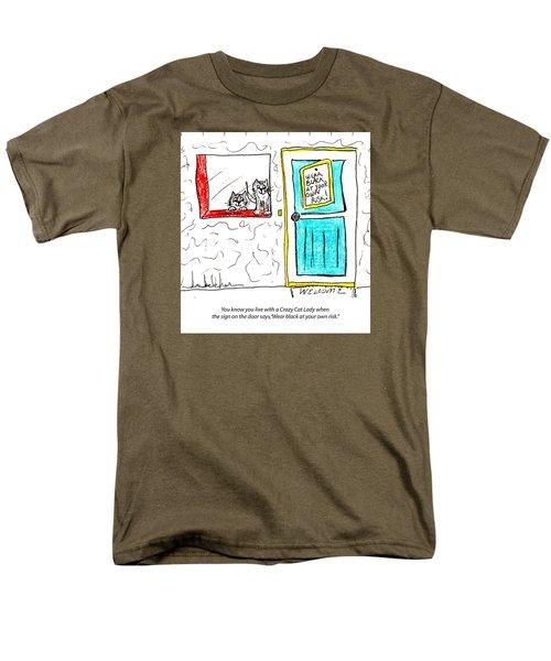 Crazy Cat Lady 0005 Men's T-Shirt  (Regular Fit) by Lou Belcher
