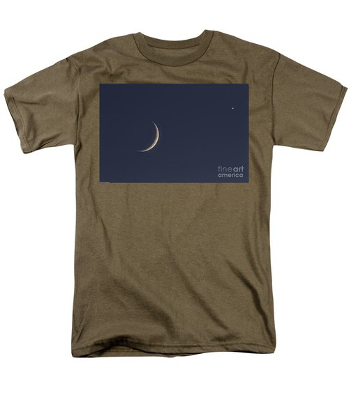 Men's T-Shirt  (Regular Fit) featuring the photograph Crescent Moon And Venus by Mitch Shindelbower