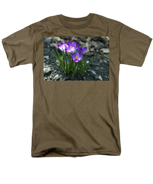 Men's T-Shirt  (Regular Fit) featuring the photograph Crocus In Bloom #2 by Jeff Severson