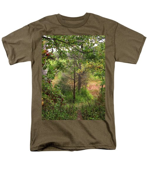 Men's T-Shirt  (Regular Fit) featuring the photograph Crooked Creek Woods by Kimberly Mackowski