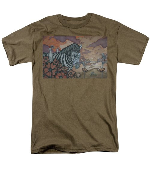 Crossing The Mara Men's T-Shirt  (Regular Fit) by Andrew Batcheller