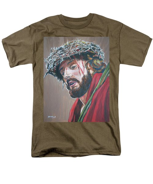 Men's T-Shirt  (Regular Fit) featuring the painting Crown Of Thorns by Bryan Bustard