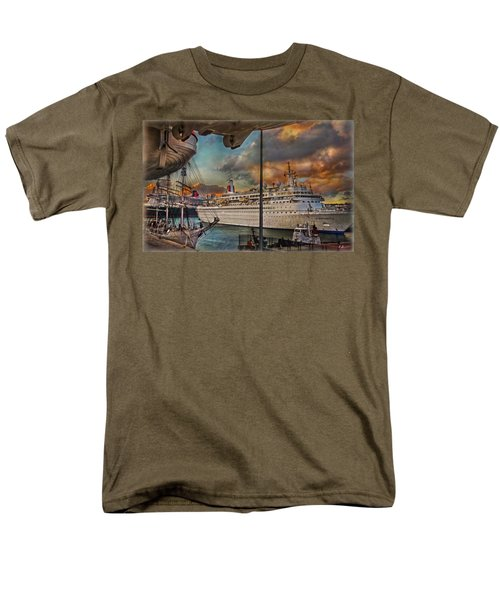 Men's T-Shirt  (Regular Fit) featuring the photograph Cruise Port by Hanny Heim