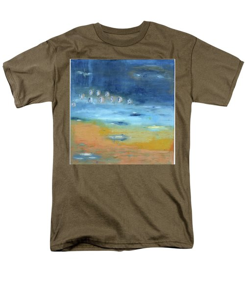 Men's T-Shirt  (Regular Fit) featuring the painting Crystal Deep Waters by Michal Mitak Mahgerefteh