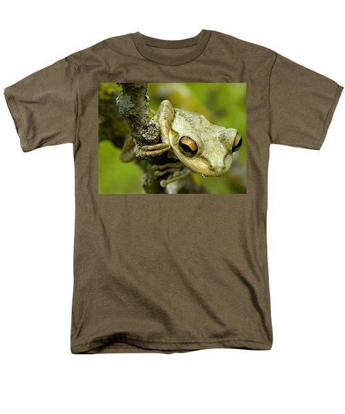 Cuban Tree Frog  Men's T-Shirt  (Regular Fit) by Chris Mercer