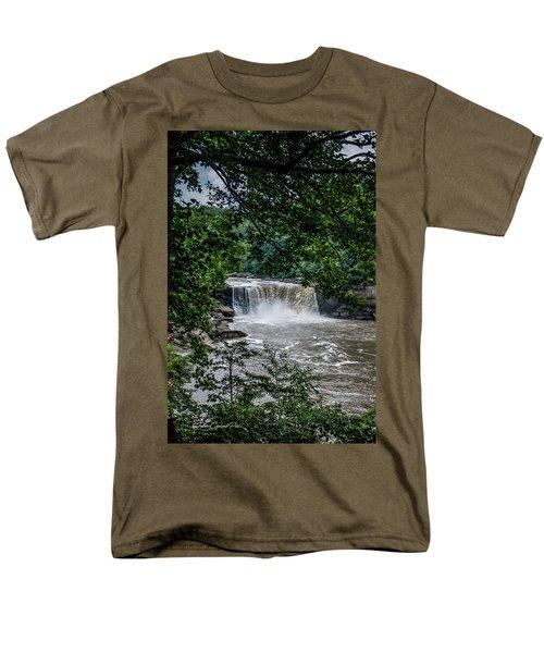 Men's T-Shirt  (Regular Fit) featuring the photograph Cumberland Falls by Joann Copeland-Paul