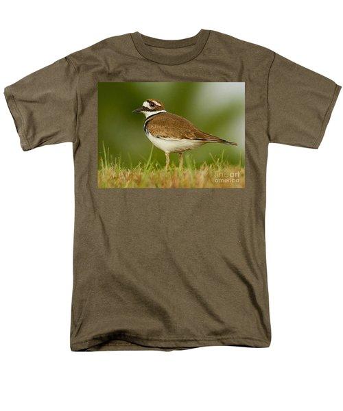 Men's T-Shirt  (Regular Fit) featuring the photograph Curious Killdeer by Myrna Bradshaw