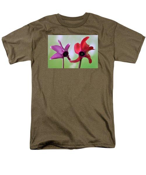 Cyclamen Duet. Men's T-Shirt  (Regular Fit) by Terence Davis