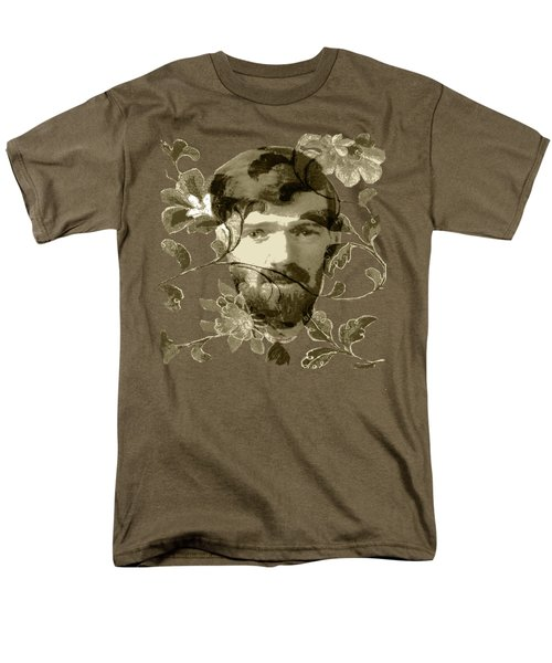 Men's T-Shirt  (Regular Fit) featuring the digital art D H Lawrence by Asok Mukhopadhyay