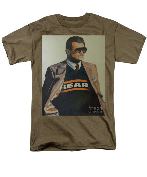 Men's T-Shirt  (Regular Fit) featuring the drawing Da Coach Ditka by Melissa Goodrich