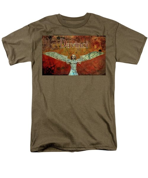 Men's T-Shirt  (Regular Fit) featuring the digital art da Vinci 2023 by Greg Sharpe