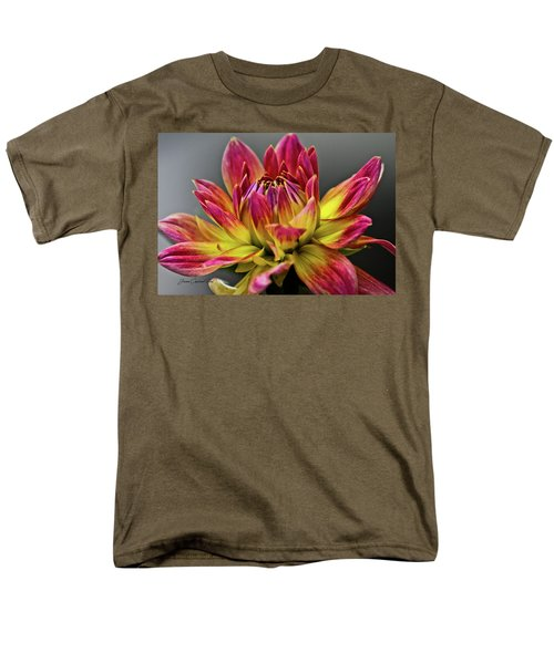 Dahlia Flame Men's T-Shirt  (Regular Fit) by Joann Copeland-Paul