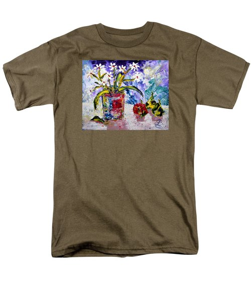 Daisies Men's T-Shirt  (Regular Fit) by Lynda Cookson