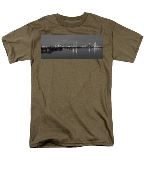 Dallas Skyline Trinity Black And White Men's T-Shirt  (Regular Fit) by Jonathan Davison