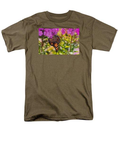 Men's T-Shirt  (Regular Fit) featuring the photograph Dangling Monarch   by Yumi Johnson