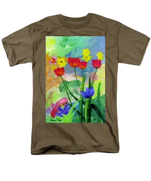 Men's T-Shirt  (Regular Fit) featuring the painting Daria's Flowers by Jamie Frier