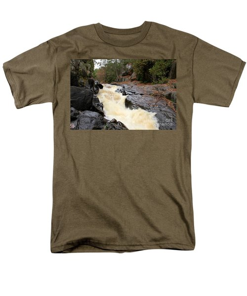 Men's T-Shirt  (Regular Fit) featuring the photograph Dave's Falls #7284 by Mark J Seefeldt
