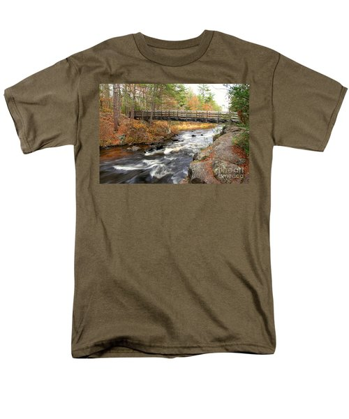 Men's T-Shirt  (Regular Fit) featuring the photograph Dave's Falls #7480 by Mark J Seefeldt