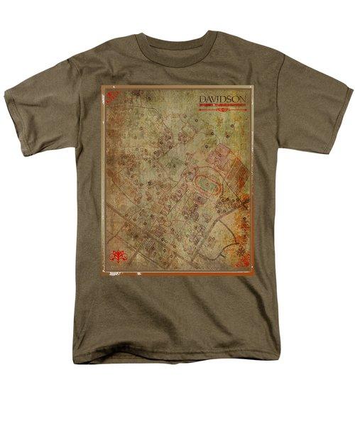 Davidson College Map Men's T-Shirt  (Regular Fit) by Paulette B Wright