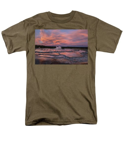 Dawn At Great Fountain Geyser Men's T-Shirt  (Regular Fit) by Roman Kurywczak