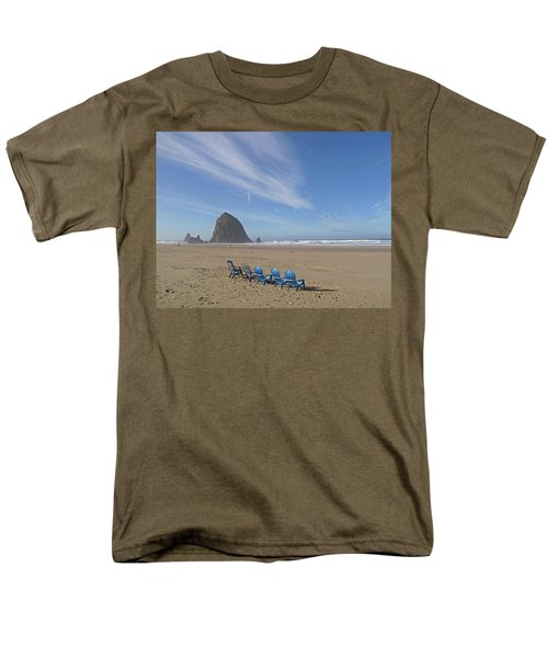 Men's T-Shirt  (Regular Fit) featuring the photograph Day At Haystack Rock by Suzy Piatt