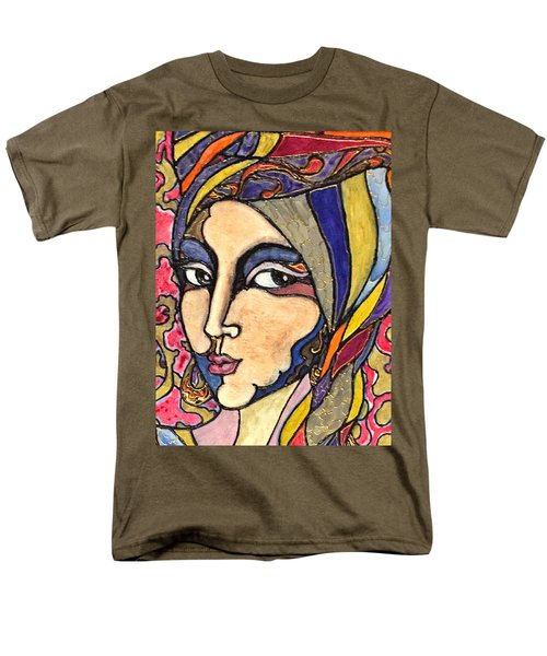 Men's T-Shirt  (Regular Fit) featuring the painting Decoface 3 by Rae Chichilnitsky