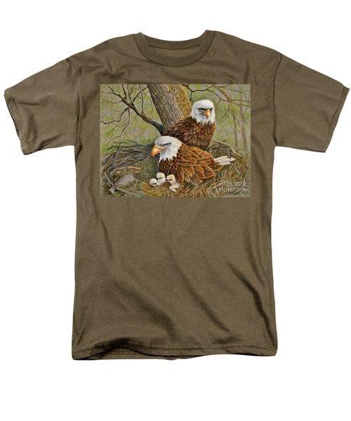Decorah Eagle Family Men's T-Shirt  (Regular Fit) by Marilyn Smith