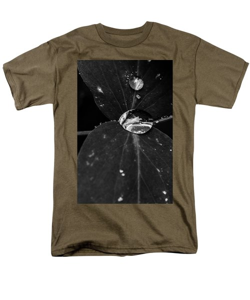 Men's T-Shirt  (Regular Fit) featuring the photograph Deep Refraction Between Leaves by Darcy Michaelchuk
