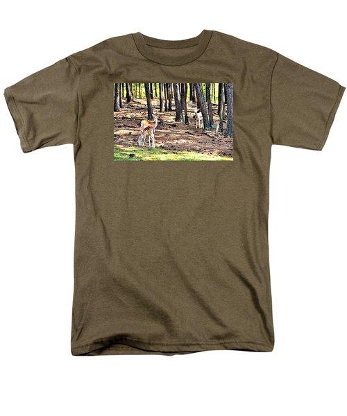 Deer In The Summer Forest Men's T-Shirt  (Regular Fit) by James Potts