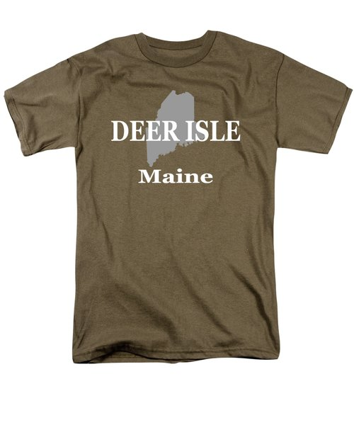 Men's T-Shirt  (Regular Fit) featuring the photograph Deer Isle Maine State City And Town Pride  by Keith Webber Jr