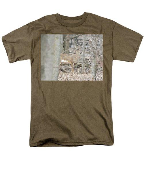 Deer Keeping Watch Men's T-Shirt  (Regular Fit) by Erick Schmidt