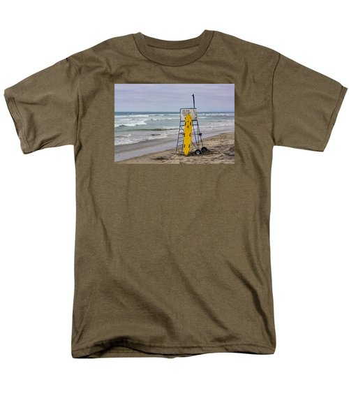 Men's T-Shirt  (Regular Fit) featuring the photograph Del Mar Lifeguard Tower by Randy Bayne