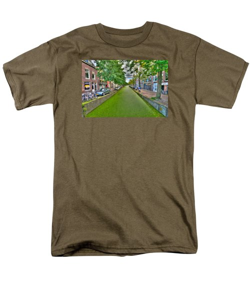 Men's T-Shirt  (Regular Fit) featuring the photograph Delft Canals by Uri Baruch