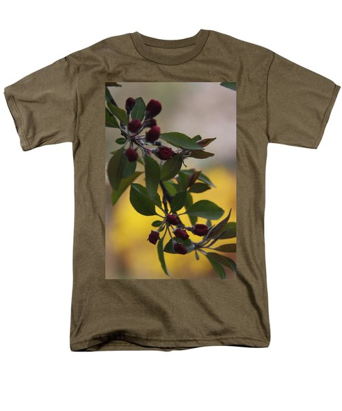 Delicate Crabapple Blossoms Men's T-Shirt  (Regular Fit) by Vadim Levin