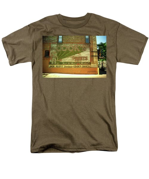Men's T-Shirt  (Regular Fit) featuring the photograph Denver Ghost Mural by Frank Romeo